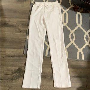 Pants - White straight leg maternity pants